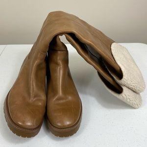 Michael Kors Tan Boot with Fur Detail 7